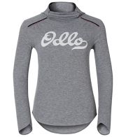 Odlo Shirt l/s with Facemask WARM V W (Hellgrau / L) - Unterwäsche