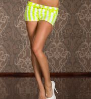 Stretch-Hotpants im Neon-Look