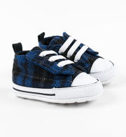 Converse Chuck Taylor First Star´´ Easy Slip blaue Sneakers mit Karo-Muster´´