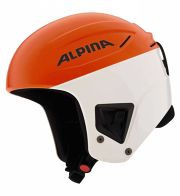 Alpina Downhill Comp Skirennhelm (Kopfumfang: 59-60 cm, 71 orange/weiß)