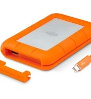 LaCie Rugged Thunderbolt, 2 TB ext. 6,35 cm Festplatte, USB 3.0, silber-orange