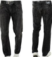 Mazine Carnivoro Even Male Herren Straight Fit Jeans Schwarz