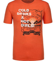 Trendiges T-Shirt mit Frontprint von Tom Made In Heaven in Orange für Herren
