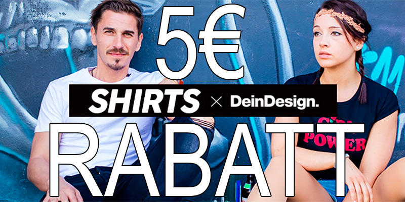 5 euro deindesign gutschein f r t shirts. Black Bedroom Furniture Sets. Home Design Ideas
